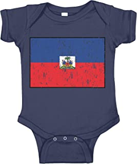 Amdesco Haiti Flag Haitian Infant Bodysuit