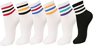 Women Triple Stripe Ankle Socks 6pair