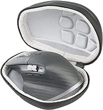 co2crea Hard Travel Case for Logitech MX Master 3 / Master 2S Advanced Wireless Mouse (Black Case + Inside White)