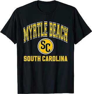 Myrtle Beach SC Varsity Style Amber Print T-Shirt