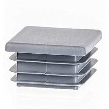 capuchon pour poteau carr/é 70x70 gris Capuchon pour poteau de cl/ôture tube plastique 10 pcs