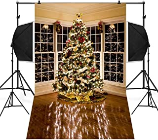 Hot Sale!DEESEE(TM)🌸🌸8Colors Christmas Backdrops Snow Vinyl 3x5FT Background Photography Studio (A)