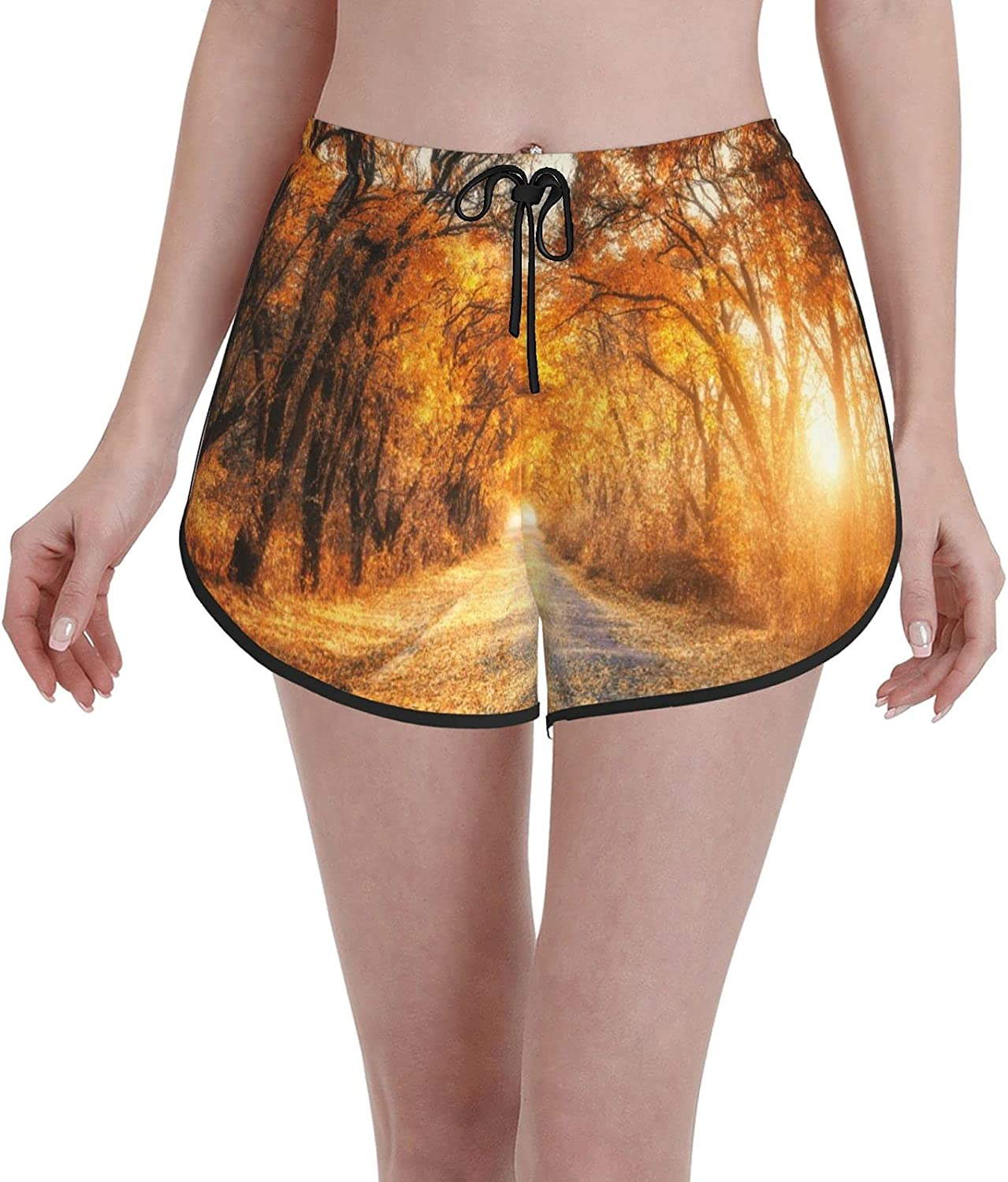 Women's Max Industry No. 1 44% OFF Girl's Swim Trunks Autumn with Forest Country Road