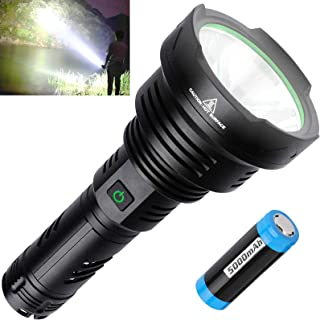 100000 High Lumen USB Rechargeable Flashlight, LED Tactical Flashlights, Super Bright Flashlights with 26650 Batteries Inc...