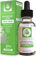 OZNaturals Hyaluronic Acid Serum for Face: Hyaluronic Facial Serum with Vitamin C and E..