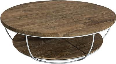 Macabane Table Basse Coque, Teck, Brun, 100 x 100 x 35 cm