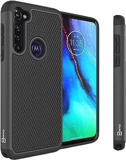 CoverON Heavy Duty Hybrid HexaGuard Series Rugged Drop Proof Phone Cover for Motorola Moto G Stylus Case - Black