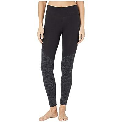 Reebok Elements Marble Color Blocked Leggings (Black) Women