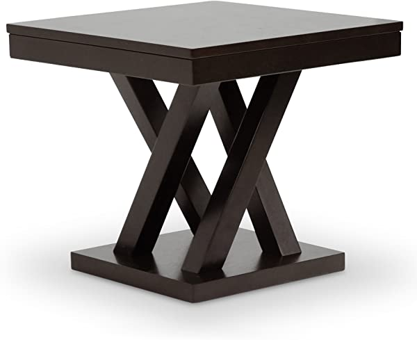 Baxton Studio Everdon Modern End Table Dark Brown