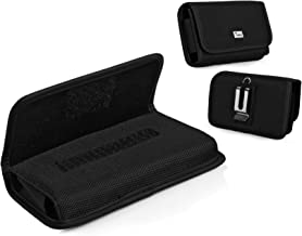 TMAN Horizontal Rugged Belt Case for LG Aspire LN280 Optimus L1 II E410 Optimus L3 E400 Vu CU920 Xpression C395 Converse Xpression 2 C410 [fits with Silicone, Protective, Slim Cover, Hybrid Case]