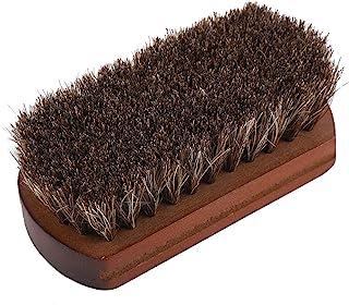 Brosses à Chaussures en Crin de Cheval avec Base en Bois pour Cuir Chaussures Sacs Nettoyage Efficace Polir Accessoire