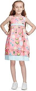 Little Kangaroos Girls Dress,Coral-ROGS2019590B