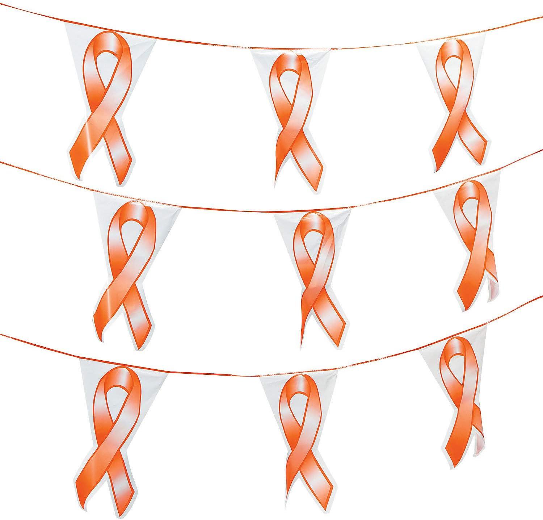 Fun Great interest Express Super-cheap - Orange Ribbon Decor Party Banner Hangi Pennant
