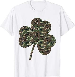 Irish Military Camoflauge Shamrock Shirt St Patricks Day