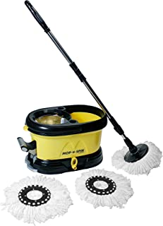 Mop-n-Spin System - Spin Mop with Stainless Steel Basket - Dual Option to Spin Dry