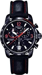 Certina DS Podium GMT Genuine Black Leather Mens Quartz Watch C0016391605702