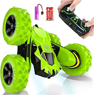 (Green) - Joyjam Toys for 6-12 Year Old Boys RC Stunt Car for Kids and Adults 4WD Off Road Truck 2.4Ghz Remote Control Veh...
