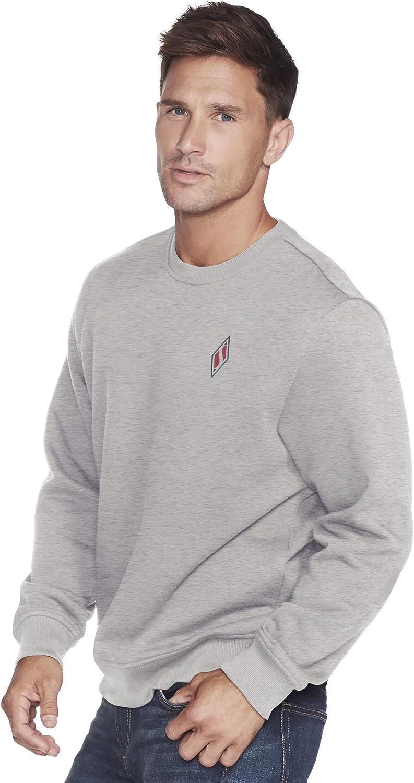 売り出し おすすめ Skechers Skech-Sweats Diamond Crewneck Sweatshirt Logo