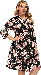 Womens Plus Size Lightweight Short Robes Kimono Bathrobe Sleepwear Loungewear