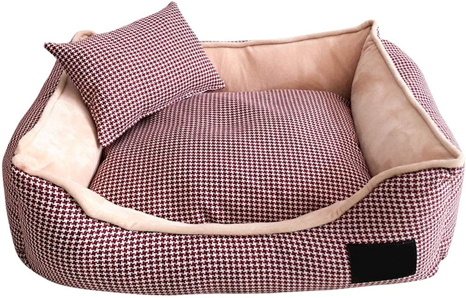 Il Bed of Dog, completamente smontabile e lavabile, impermeabile a umido Pet Pad Twosided use Dog Bed Large Dog kennel (100 * 80 * 26cm),viola, M