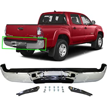 FOR Toyota 05-15 Tacoma Rear Bumper Black Top Center Side Pads License Light Set