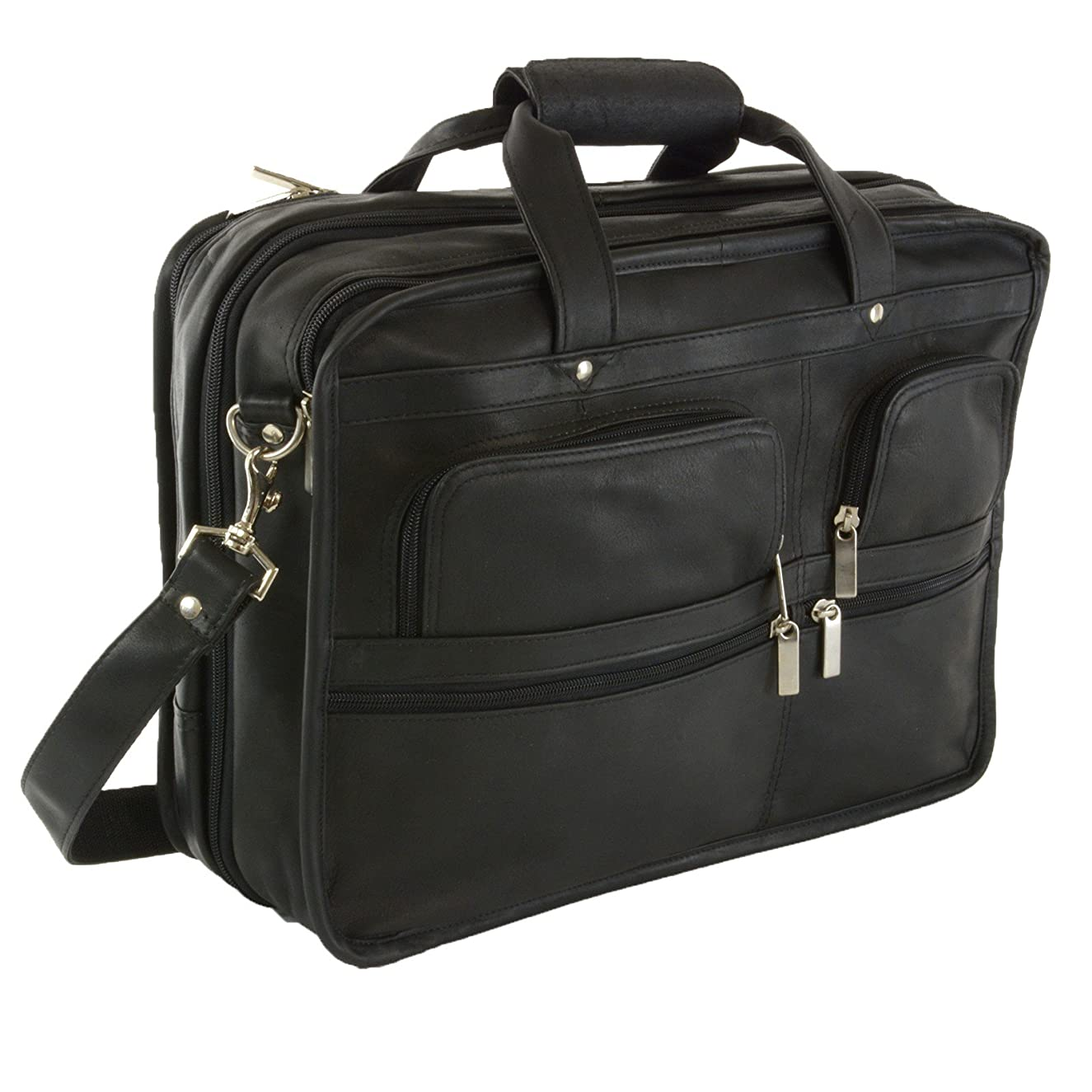 Hammer Anvil Turbo Colombian Leather Briefcase Top-Zip Laptop Messenger Bag