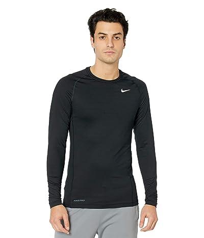 Nike Pro Top Warm Long Sleeve Crew (Black/White) Men
