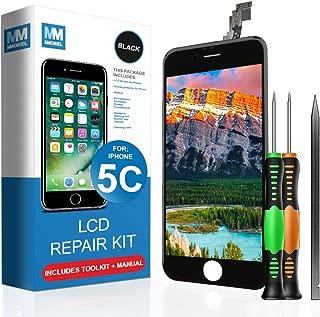 Pantalla táctil LCD MMOBIEL compatible con iPhone 5C (negro) El kit de reparación profesional incluye un manual sencillo