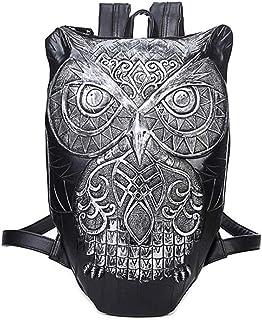 3D Owl Backpack Personalized Shoulder Messenger Bag Backpack 1,Silver