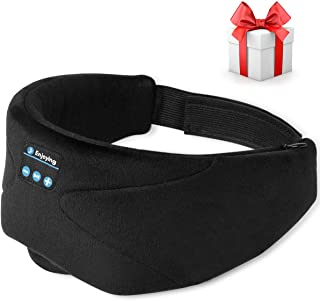 Sleep Headphones, 2020 Wireless 5.0 Bluetooth Eye Mask Music Sleep Mask Noise Canceling Bluetooth Headphones, HD Stereo So...