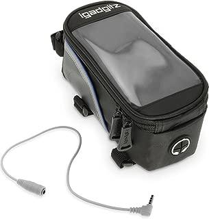 igadgitz Large Noir Sac Housse Bicyclette Sacoche de Cadre Résistant à l'eau Réfléchissant pour Samsung Galaxy S8, S8+, S6 S7 Edge, Note 2 3 4 5, A7 A9 J2 A8 J5 J7 C5 Smartphone Support Ecran Tactile