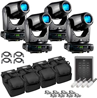 (4) American DJ Focus Spot Three Z 100W LED Moving Head Spots with Motorized Focus & Airstream IR Transmitters Package