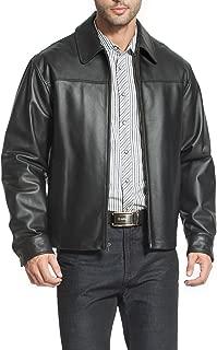 Men's Greg Open Bottom Zip Front Leather Jacket