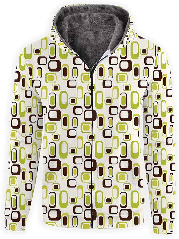 Print Zip Jacket All Up Sweatshirt Geometric Hoodie Unisex Over KlcTF1J3