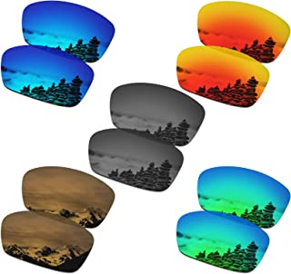 Set of 5 Men's Replacement Lenses for Oakley Plaintiff Squared Sunglass Combo Pack S02