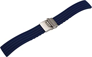 Glamorous Streamline Watch Silicone Strap Replacement Rubber Bracelet for Sport Watch