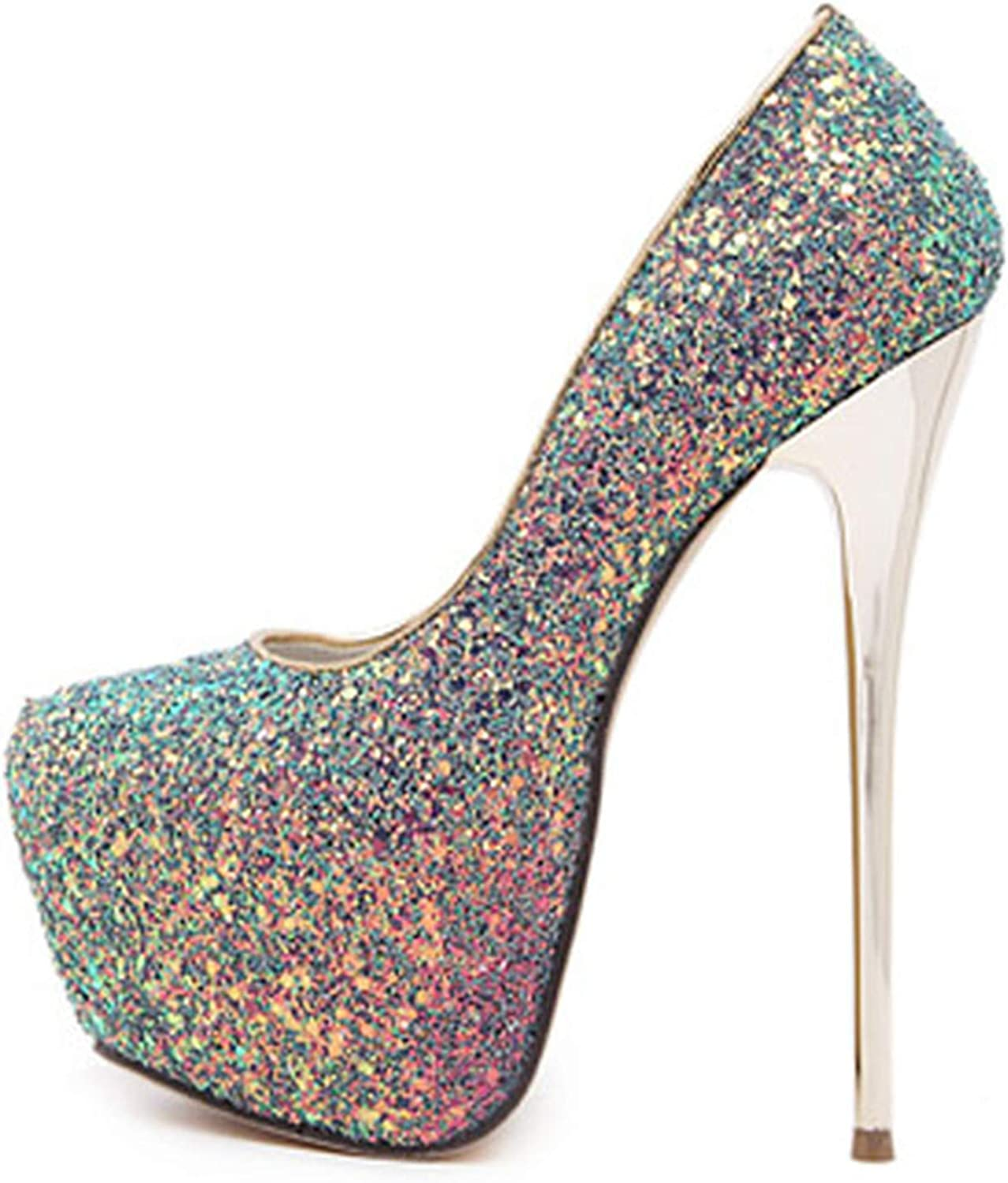 High Heels Woman shoes Sexy Bling Pumps Party Dress shoes 34-45