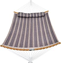 PATIO WATCHER 14 FT Quilted Hammock Folding Curved Bamboo Spreader Bar Portable Hammock for Camping Outdoor Patio Yard
