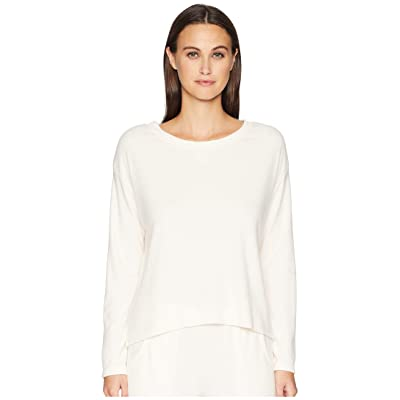 Eberjey Mina The Tranquil Long Sleeve Top (Cream Pink) Women