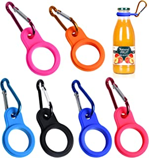 Akamino Silicone Water Bottle Carrier Colorful Bottle Holder with Keychain Clip Ring for Outdoor Activities or Daily Use -...