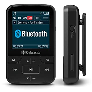 Oakcastle MP100 16GB Mini Portable MP3 Player with Bluetooth, FM Radio, Micro SD slot, Headphones + Waterproof Case Includ...