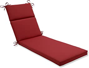 Pillow Perfect Indoor/Outdoor Red Solid Chaise Lounge Cushion