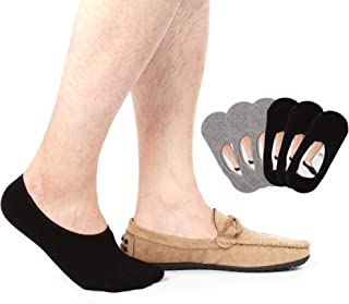 6 pairs Mens No Show Socks Non Slip Thin No See Invisible Boat Liner Loafer Sock