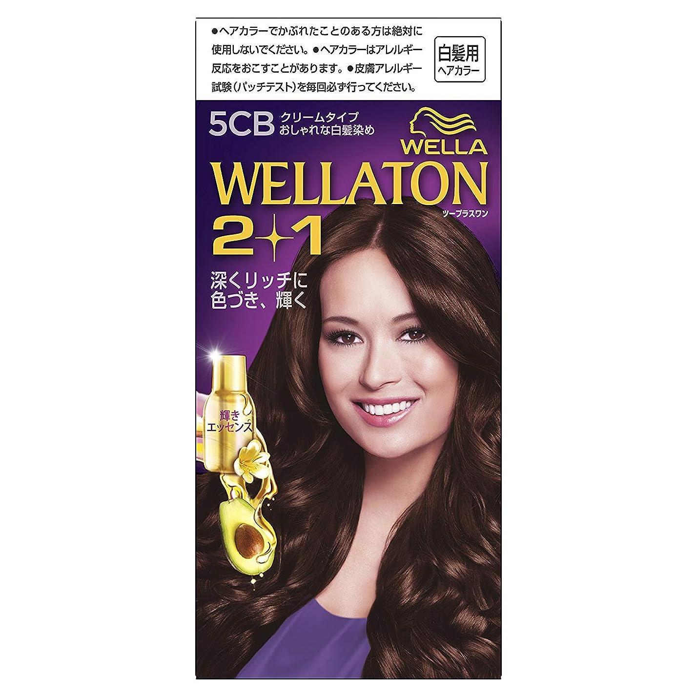 承認頑張る秘書ウエラトーン2+1 白髪染め クリームタイプ 5CB [医薬部外品] ×6個