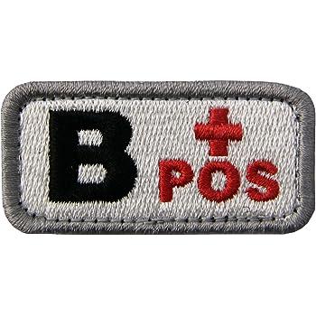 Táctico Tipo B positivo Tipo de sangre emblema Broche Bordado de Gancho y Parche de Gancho y bucle de cierre, Negro rojo: Amazon.es: Hogar