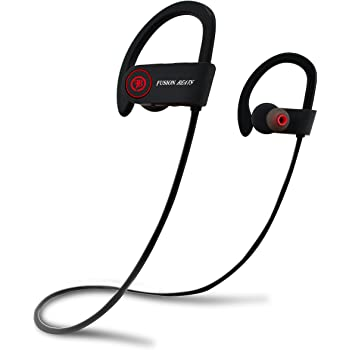 Amazon Com Fusion Beats Bluetooth Headphones Best Noise Cancelling Wireless Sports Earphones Sweatproof Earbuds For Gym Running Up To 8 Hours Of Working Time Built In Mic Headsets Earbuds Home Audio Theater