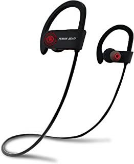 Fusion Beats Bluetooth Headphones/Best, Noise Cancelling Wireless Sports Earphones/Sweatproof Earbuds for Gym Running/Up to 8 Hours of Working Time/Built-in Mic Headsets/Earbuds