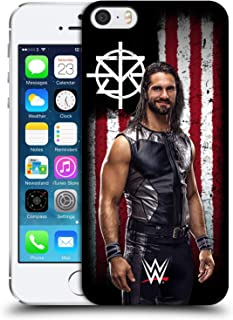 Official WWE Seth Rollins American Flag Superstars Hard Back Case Compatible for iPhone 5 iPhone 5s iPhone SE