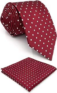 Shlax y ala rojo lunares Maroon boda cuello de para hombre Fashion 57,5