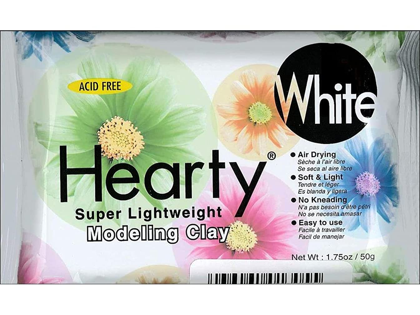 Hearty Clay Lightweight Modeling 1.75oz White